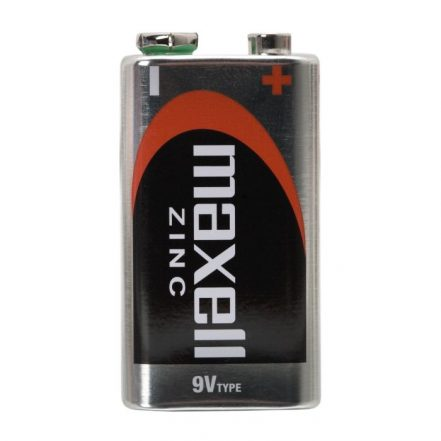 9V baterija - E • 6F22   Zn • 9V - 1 kos