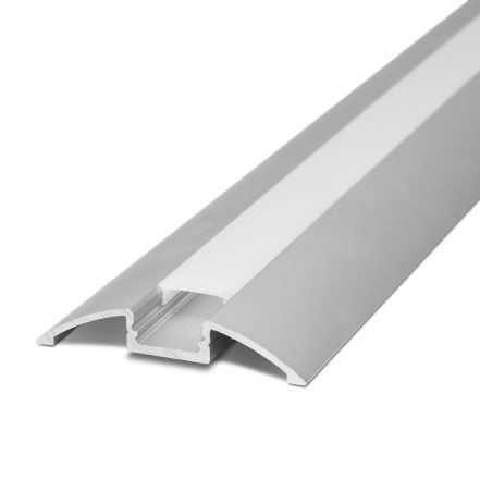 Aluminijasti LED profil 41017A2 - 2000 x 56,5 x 11,5 mm - U profil