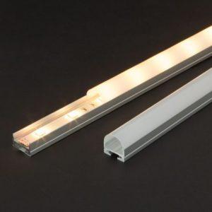 Aluminijasti LED profil 41020A1 - 1000 x 19 x 11 mm - U profil