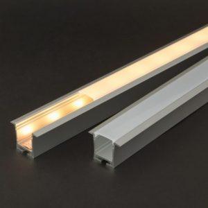 Aluminijasti LED profil 41021A2 - 2000 x 35 x 28 mm - U profil