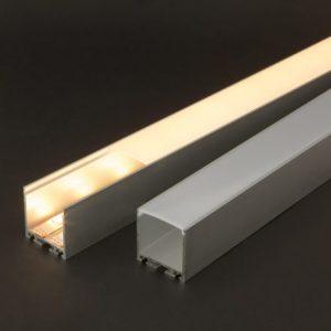 Aluminijasti LED profil 41022A2 - 2000 x 35 x 40 mm - U profil