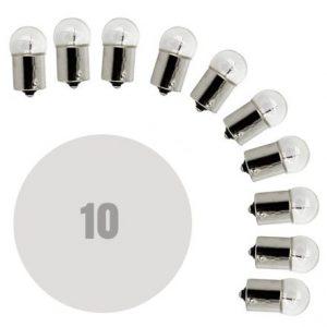 Avtomobilska žarnica - G18-BA15s - 12V - 5W - bela - 10 kosov / paket