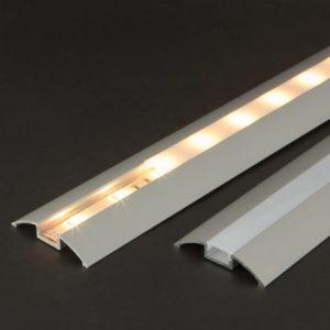 Difuzor za LED aluminijasti profil 41017A2 - Opal - 2000 mm