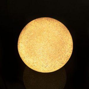 LED kristalna snežna krogla - 12 cm
