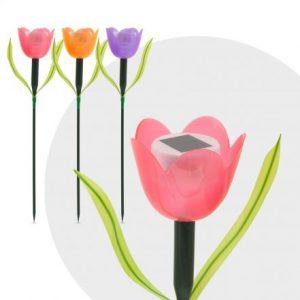 LED solarna svetilka tulipan - 44 cm