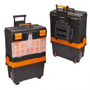 Mobilni večdelni plastični kovček za orodje na kolesih - 460 x 330 x 800 mm