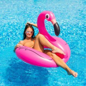 Napihljiv flamingo 120 cm