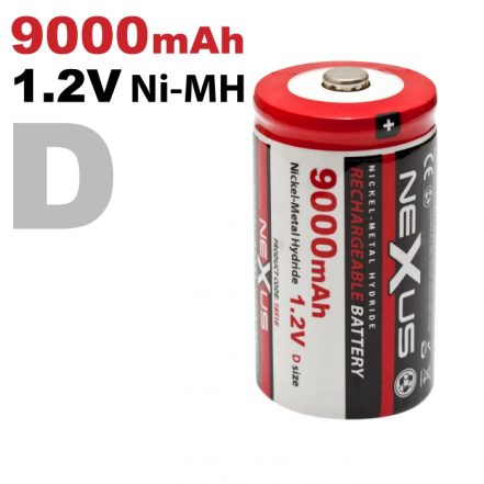 Polnilna baterija - mono • D • HR20 | Ni-MH • 1,2 V • 9000 mAh