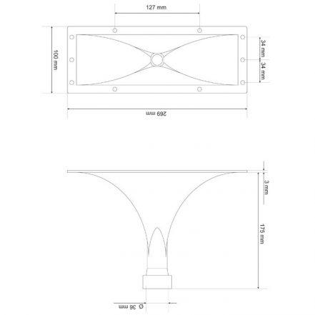 Rog - 270 x 100 x 175 mm