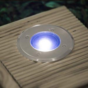 Vgradna solarna LED svetilka okrogla