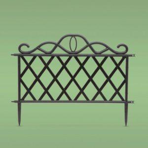 PVC ograja za vrtove ali cvetlične grede - 45 x 35 cm