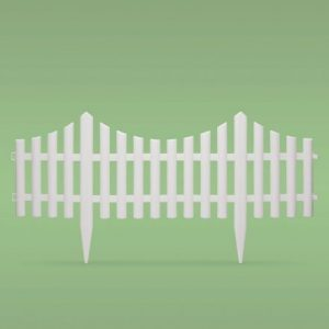 PVC ograja za vrtove ali cvetlične grede - 60 x 23 cm