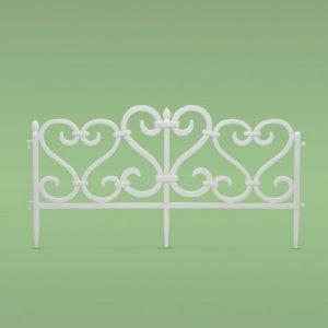 PVC ograja za vrtove ali cvetlične grede - 62 x 32 cm