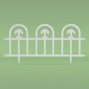 Flower bed border / fence60 x 30 cm - white