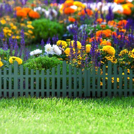 Garden border / fence  60x 23 cm - green
