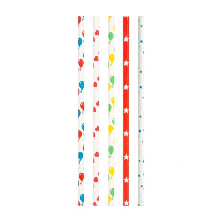 Paper straw - party - 195 mm - 25 pcs /package