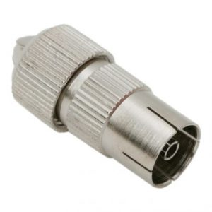 TV coax socketmetal type
