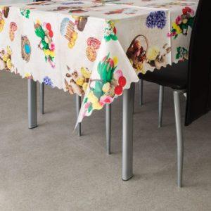 Voskan prt za mizo velikonočni vzorec- košare - 100 x 140 cm