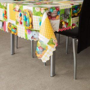 Voskan prt za mizo velikonočni vzorec - pirhi - 100 x 140 cm