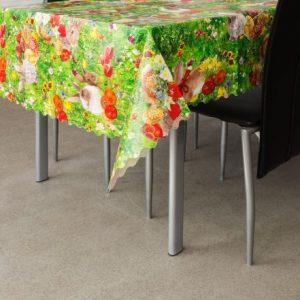 Voskan prt za mizo velikonočni vzorec - zajčki - 100 x 140 cm