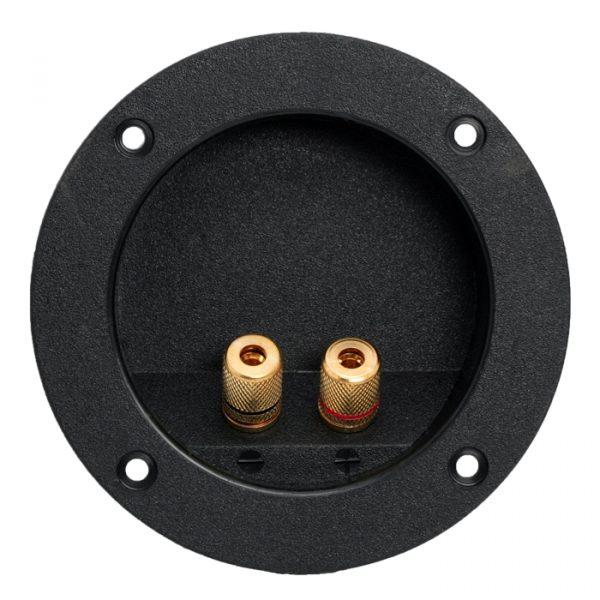 2-polna vtičnica za zvočnike vgradna, pozlačena - vijačna različica