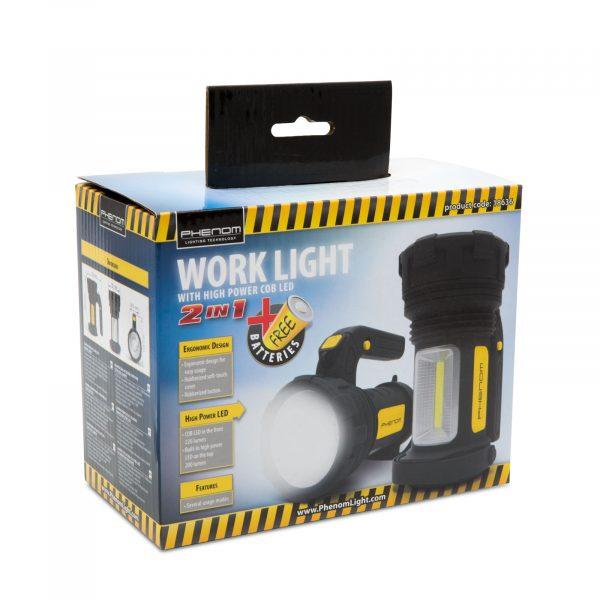 2v1 COB LED delovna svetilka na baterije