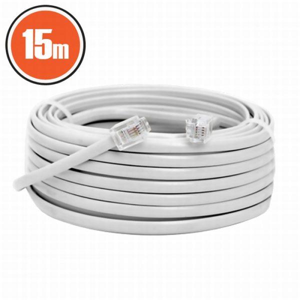 6P4C vtič - 6P4C vtič - telefonski kabel -  15m