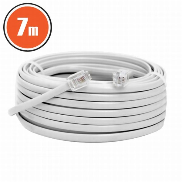 6P4C vtič - 6P4C vtič - telefonski kabel -  7m