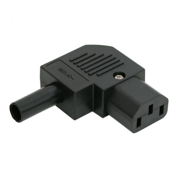 AC vtičnica z napetostnim popuščanjem - 90 ° - 10A / 250V