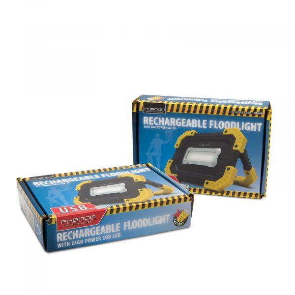 Akumulatorski USB COB LED reflektor 16W 1000 lm 2 x 2200mAh z USB polnilcem za telefon ali tablico