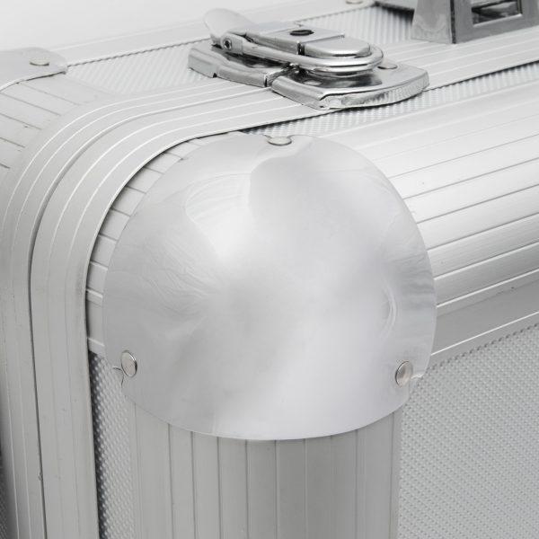 Aluminijasti kovček za orodje na kolesih s ključavnico - 400 x 280 x 80 mm480 x 340 x 200 mm