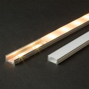 Aluminijasti LED profil 41010A1 - 1000 x 17 x 8 mm - U profil