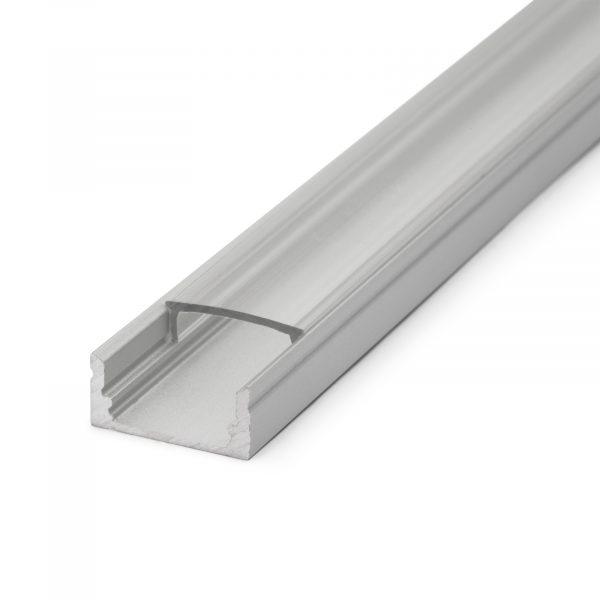 Aluminijasti LED profil 41010A2 - 2000 x 17 x 8 mm - U profil
