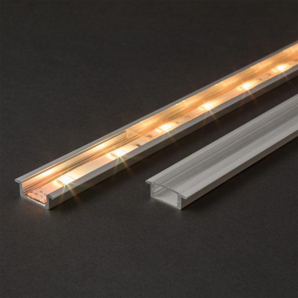 Aluminijasti LED profil 41011A2 - 2000 x 23 x 8 mm