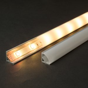 Aluminijasti LED profil 41012A2 - 2000 x 16 x 16 mm