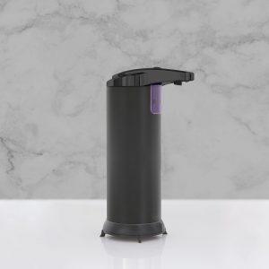 Avtomatski dozirnik mila ali antibakterijskega sredstva - 220 ml - samostoječ - na baterije - mat črna