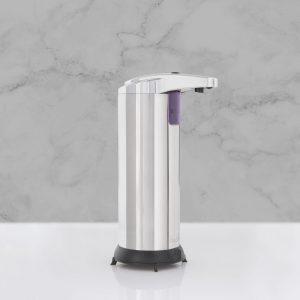 Avtomatski dozirnik mila ali antibakterijskega sredstva - 220 ml - samostoječ - na baterije - srebrn