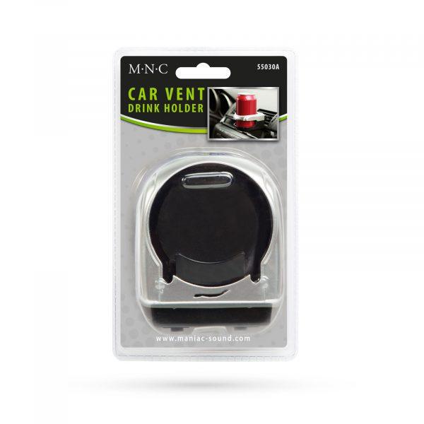 Avtomobilsko držalo za pijačo za rešetke ventilacije - krom - črna