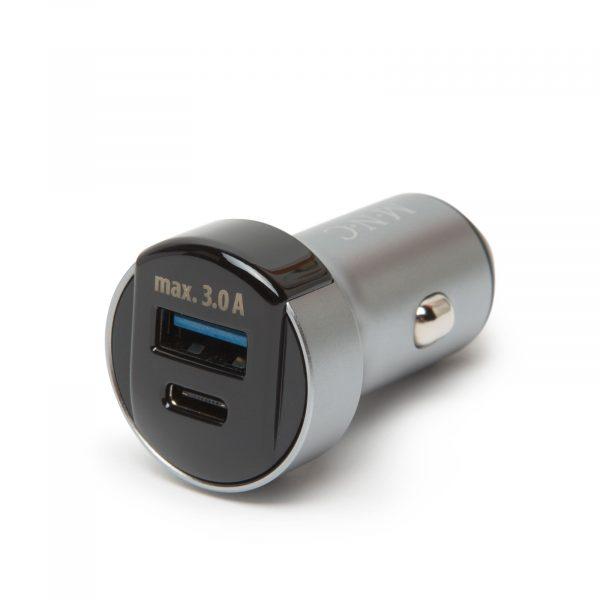 Avtopolnilec USB-C in USB vtičnica, hitro polnjenje