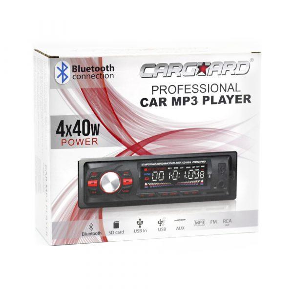Avtoradio CarGuard z Bluetooth, USB, MP3 in čitalcem SD kartic