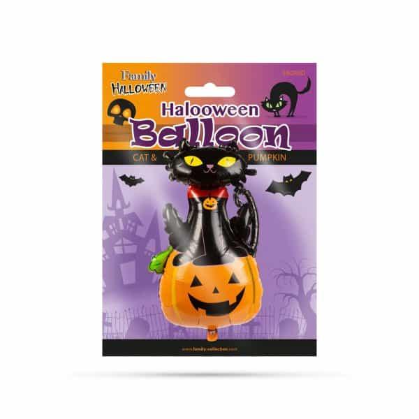 Balon za noč čarovnic - mačka in buča