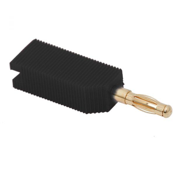 Banana vtič - pozlačeni stiki - za kable max. 4 mm - črn