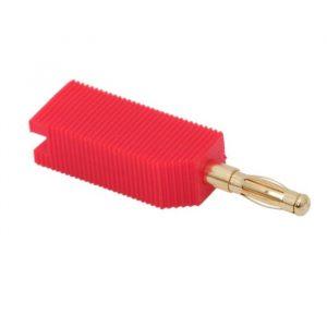 Banana vtič - pozlačeni stiki - za kable max. 4 mm - rdeč