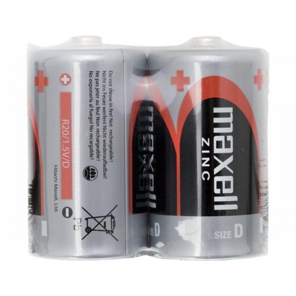 Baterija - D • R20 - Zn • 1,5 V - 2 kos