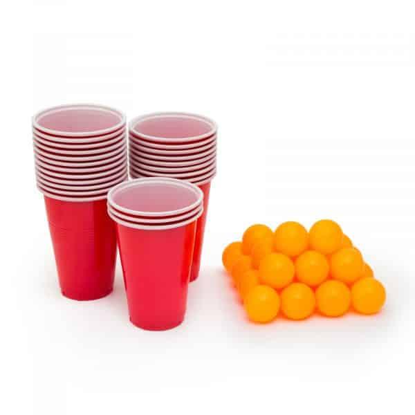 Beer pong set - 24 kosov kroglic in papirnatih kozarcev