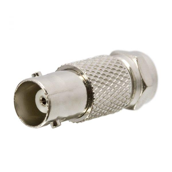 BNC / F adapter - BNC vtičnica - F vtič - pozlačeni zatič