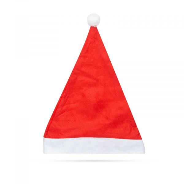 Božičkova kapa - pliš - rdeče / bela