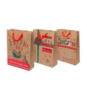 Božična darilna vrečka 31 x 23 x 11 cm, 12 kosov