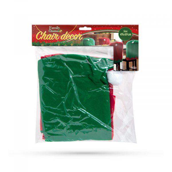 Božična dekoracija za na stol - škratova kapa 2 kos