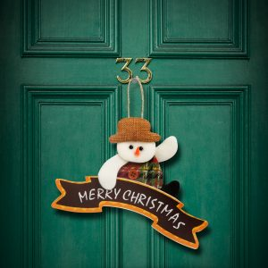 Božična dekoracija za vrata - 16 x 20 cm